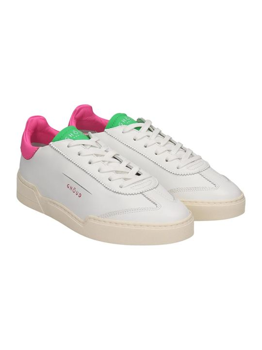 GHOUD Lob 01 Sneakers In White Leather