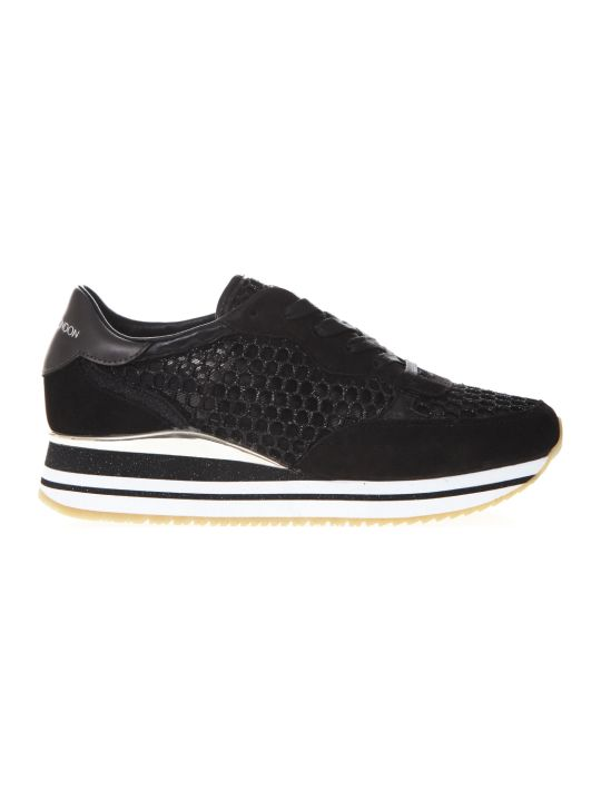 Crime london Dynamic Black Mesh & Suede Sneakers