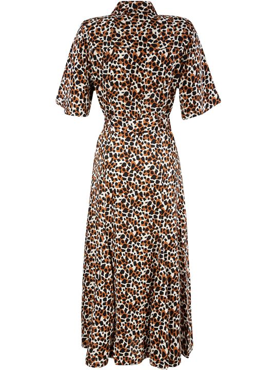 Les Coyotes De Paris Fitted Waist Printed Long Dress