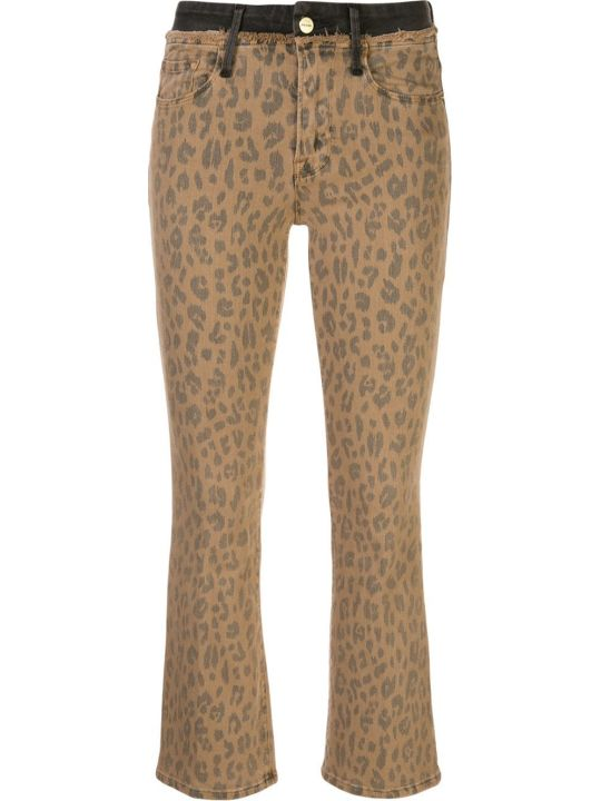 Frame Leo Le Crop Mini Boot Spring Cheetah Contrast