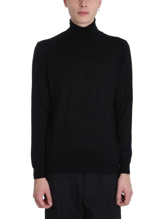 Laneus Black Wool Turtleneck