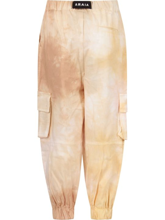 Cinzia Araia Beige Boy Cargo Pants With Logo