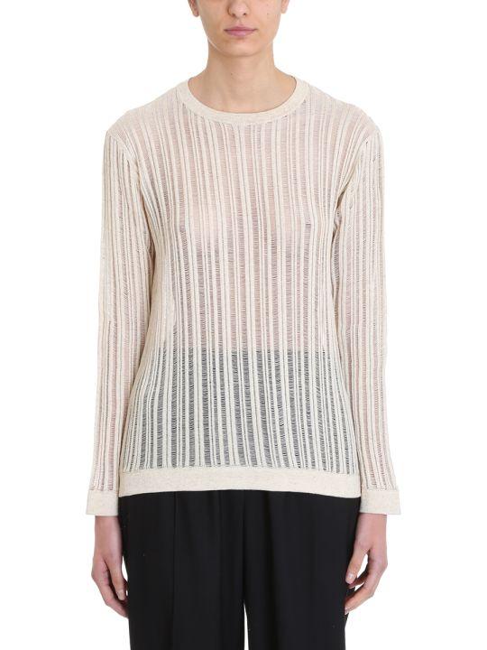 Maison Flaneur Knit Beige Cotton Sweater
