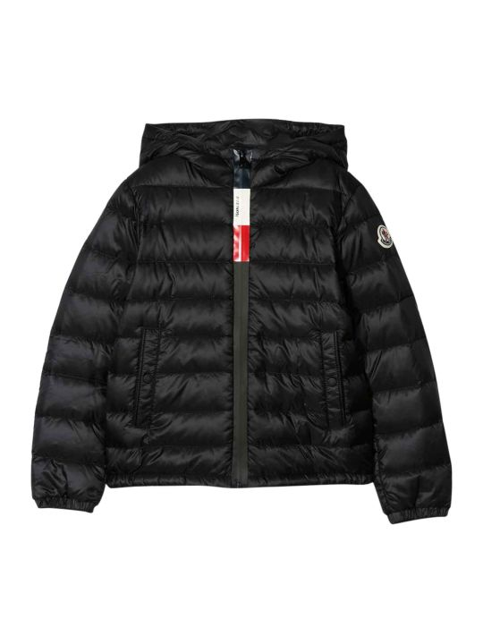 Moncler Black Lightweight Jacket Rook Model With Zip And Hood