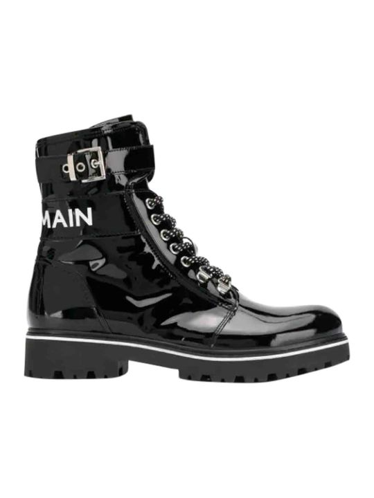 Balmain Boots With Logo