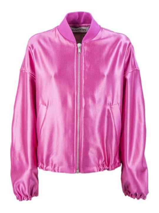 Lanvin Flamingo Pink Bomber Jacket