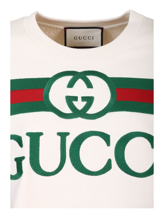 Gucci White Cotton Jersey Sweatshirt