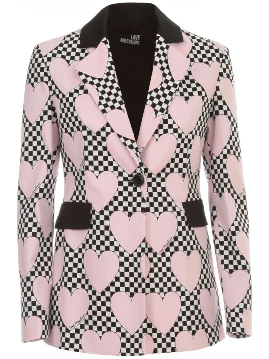 Love Moschino Jacket W/heart Race