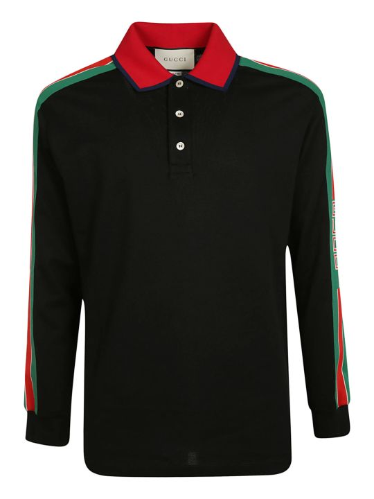 Gucci Logo Stripe Polo Shirt