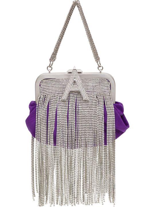 The Attico Mini Doctor Bag In Moire Con Cristalli
