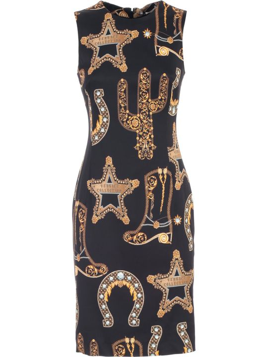 Versace Collection Dress W/s Pencil Baroque Printing