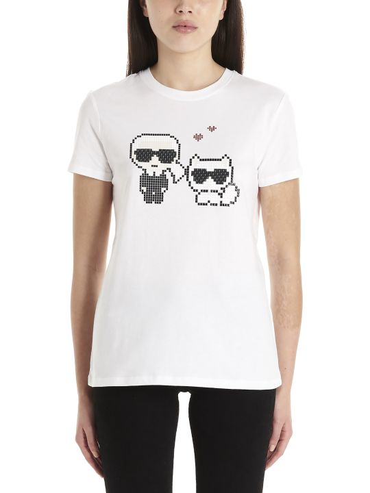 Karl Lagerfeld 'karl Pixel Choupette' T-shirt