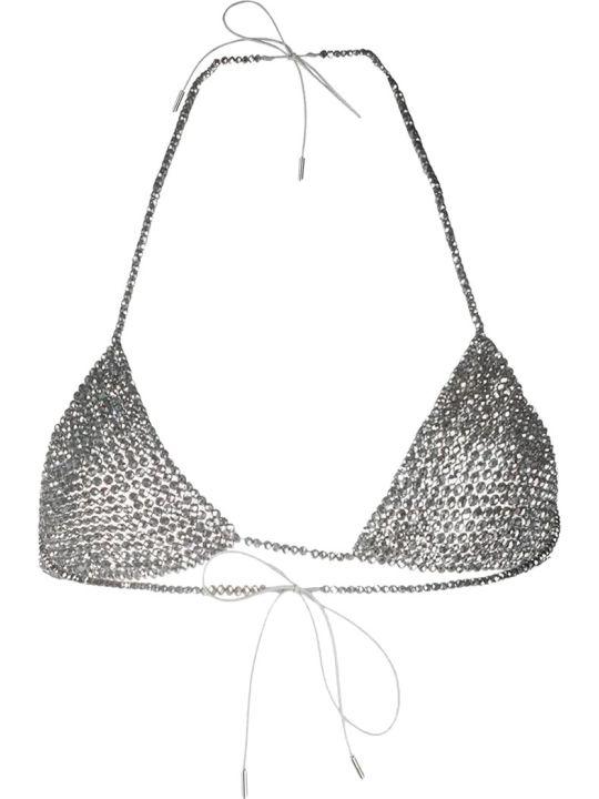 Alanui Handmade Glass Topwear In Silver Tech/synthetic