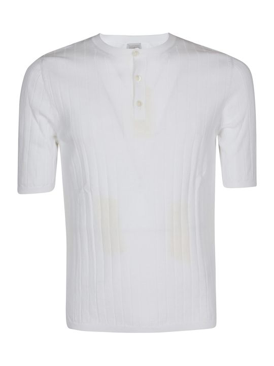 Eleventy Pleated Detail T-shirt
