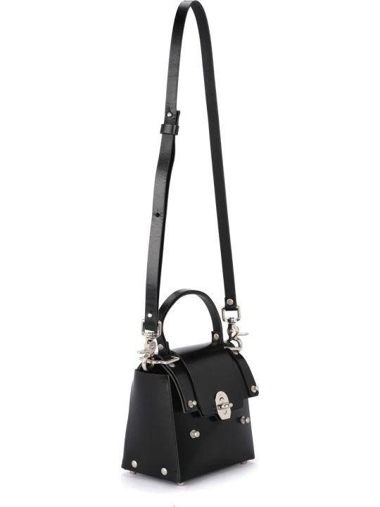 Niels Peeraer Ribbon 2pm Small Black Leather Bag