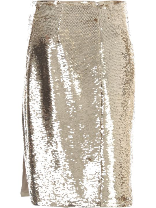 Emporio Armani Pencil Skirt W/paillettes