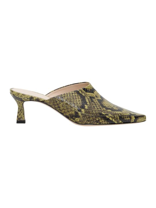 Wandler Pointy Mules Croco Embossed Leather
