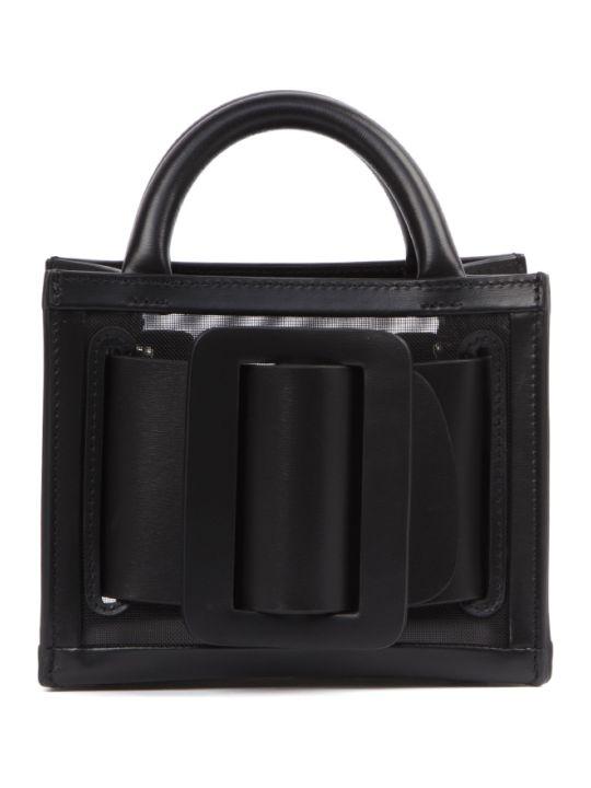 BOYY Black Leather And Mesh Bobby 16 Bag
