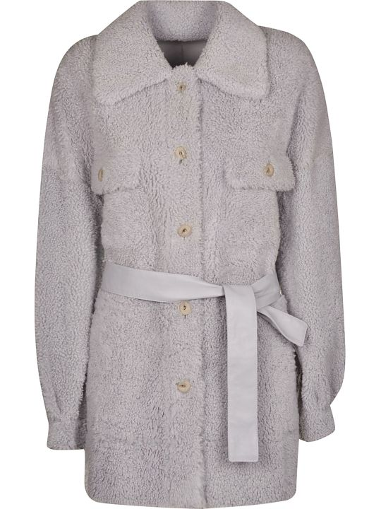 DROMe Fur Belted Trench