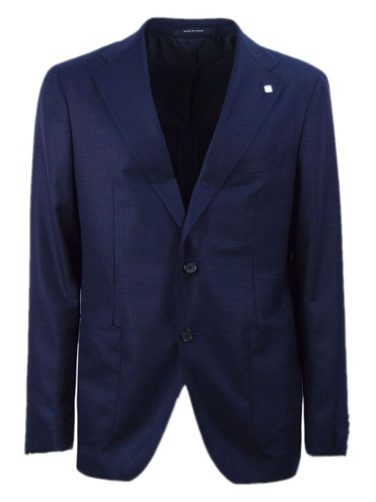 Tagliatore Dark Blue Virgin Wool Jacket