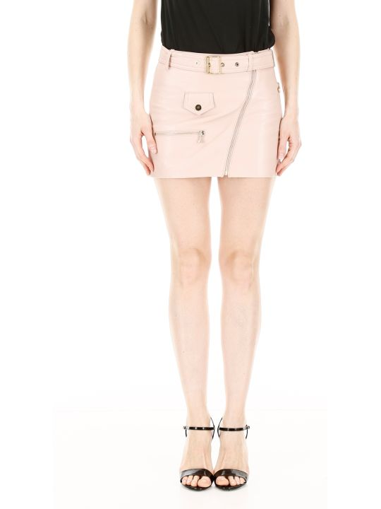Manokhi Leather Biker Skirt