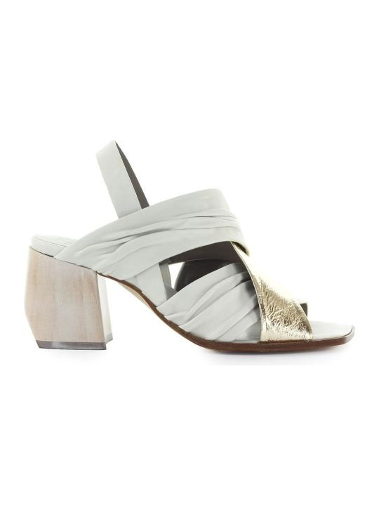 IXOS White Gold Heeled Sandal