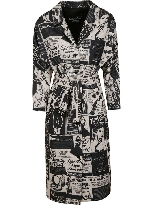 Moschino Comic Print Belted Dress