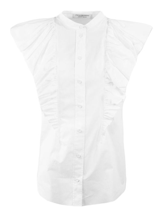 Philosophy di Lorenzo Serafini White Cotton Blouse