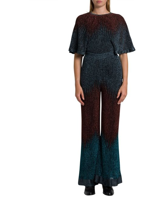 M Missoni Ribbed Lurex Knit Jumpsuit