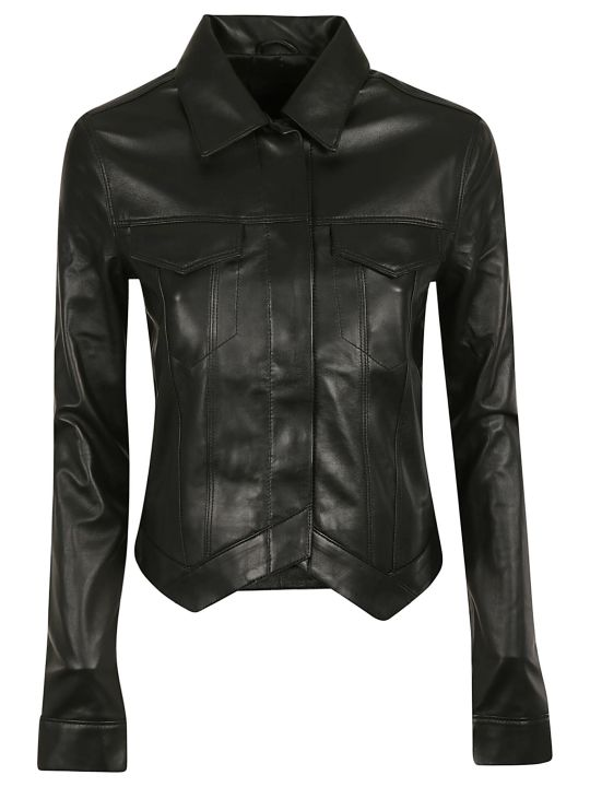 RTA Asymmetric Leather Jacket