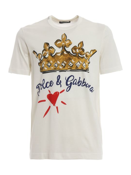 Dolce & Gabbana Crown Heart Print T-shirt