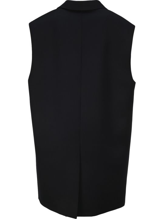 Miu Miu Sleeveless Double-breasted Coat