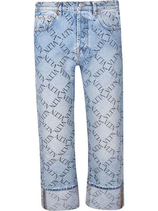Valentino Grid Logo Jeans