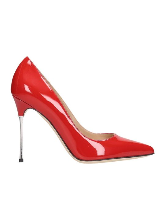 Sergio Rossi Godiva 105 Pumps In Red Patent Leather