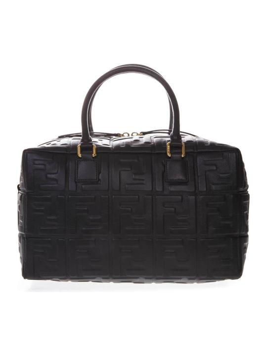 Fendi Boston Black Leather Case Bag