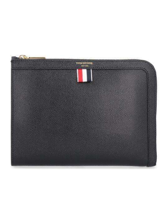 Thom Browne Grainy Leather Pouch