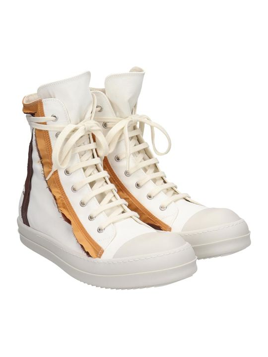 DRKSHDW Sneaks Sneakers In White Canvas
