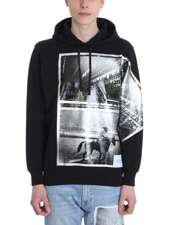 Calvin Klein Rodeo Black Cotton Hoodie