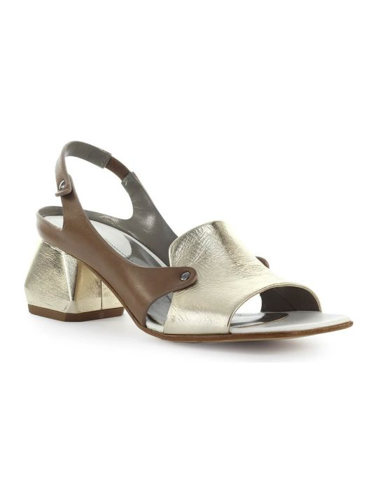 IXOS Gold Dove-grey Heeled Sandal