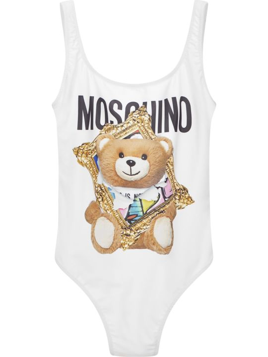 Moschino Frame Teddy Bear Swimsuit