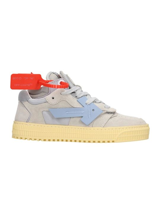 Off-White 3.0 Low Sneaker Sneakers In Grey Suede