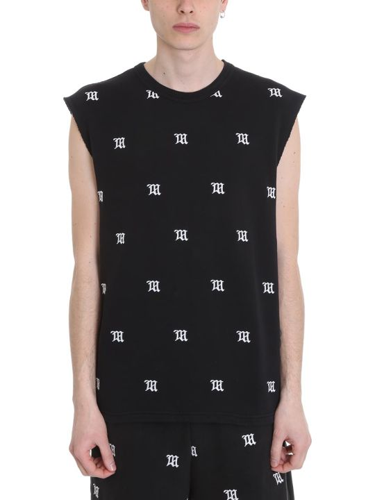 MISBHV Monogram Embro Black Cotton Shorts