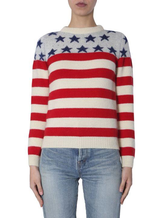 Saint Laurent Flag Jacquard Sweater