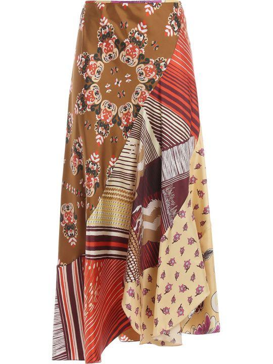 Chloé Floral Patchwork Print Skirt