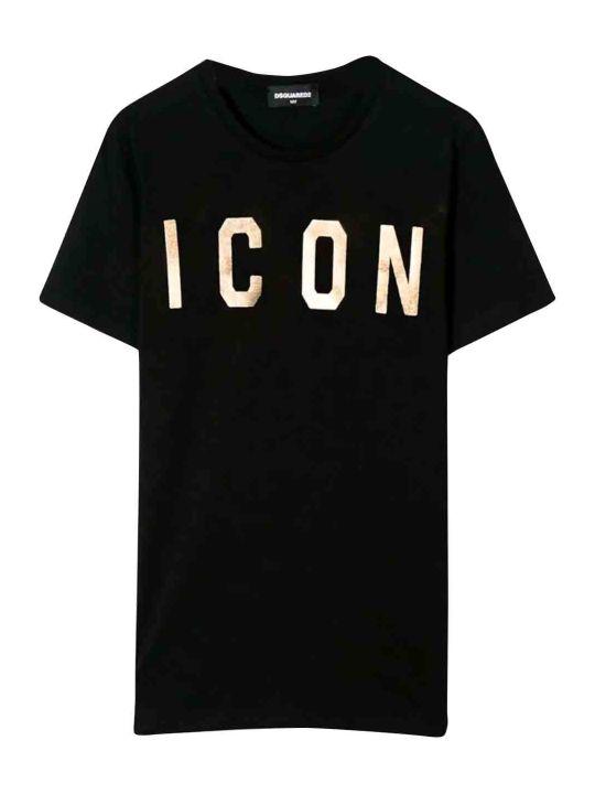 Dsquared2 Black T-shirt Teen