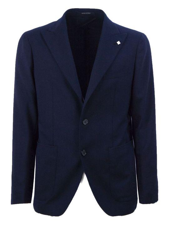 Tagliatore Blue Wool Blend Blazer