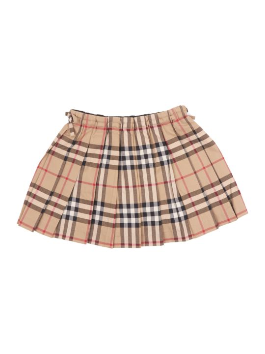 Burberry Mini Pearly Check Skirt