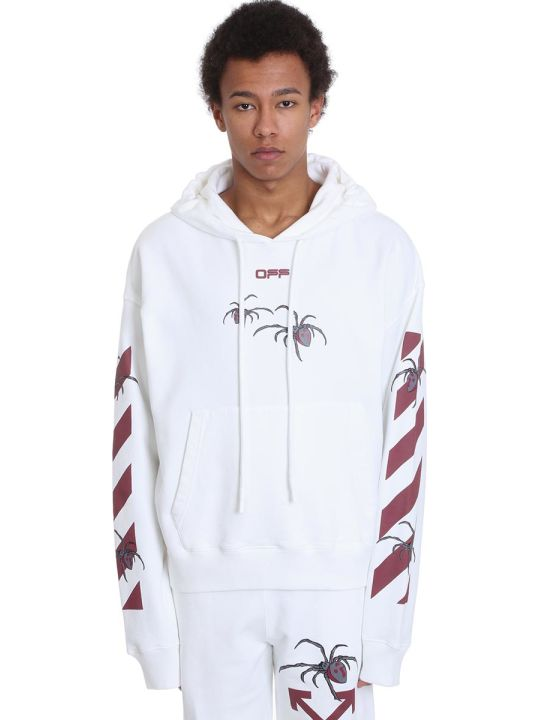 Off-White Arachno Arrow Sweatshirt In White Cotton
