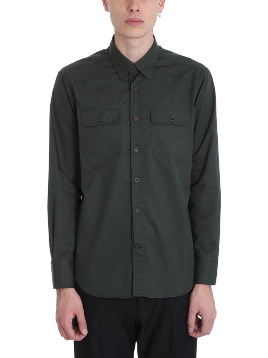 Alessandro Gherardi Green Cotton Shirt