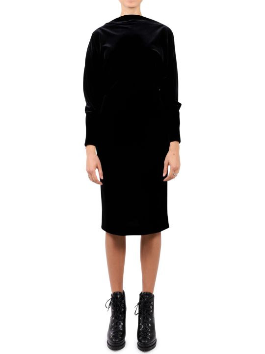 Alaia Black Velour Dress